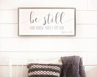 Be Still and Know that I am God Sign | Scripture Sign | Be Still and Know | Scripture Decor | Bible Verse Sign | Be Still