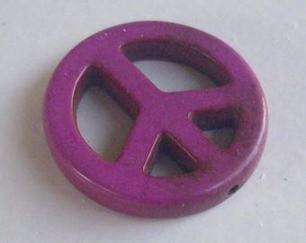 "1 ""peace and love"" have purple howlite beads"