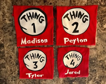 Thing One Thing Two shirts