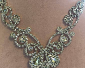 Clear Austrian Crystal Necklace and Earring Set