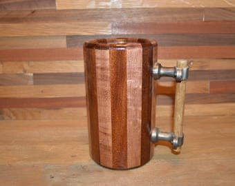 Wood Mug birds eye maple and mahogany