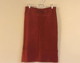 Vintage Red Suede Skirt