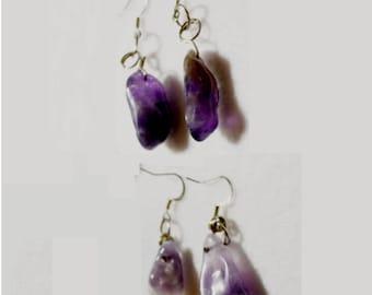 Handmade Amethyst Earrings