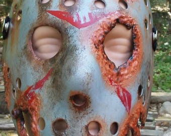 Rusted Metal Jason Mask