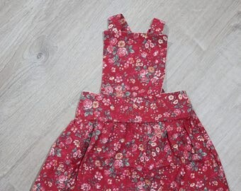 6-12 month Ready to ship pinafore dress