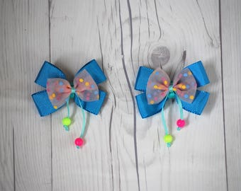 Blue and Pink Bow, Cute Bow, Baby Bows, Easter Hair Bow, Girls Babies Toddlers