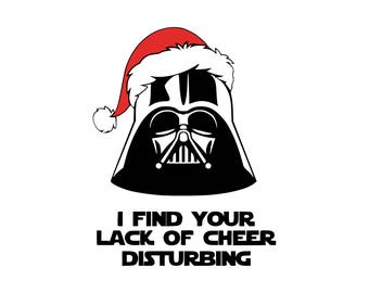 Darth Vader Santa svg Darth Vader svg Star Wars svg SVG DXF Png Vector Cut File Cricut Design Silhouette Vinyl Heat Transfer Iron