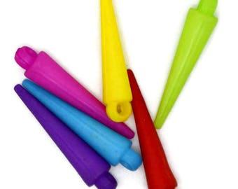 colorful spike beads, acrylic spike beads, spike beads