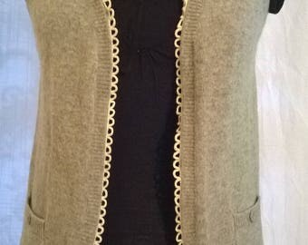 Light grey color mohair and wool bolero jacket