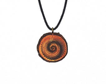 "Soul slices ""Spiral 1"" wood necklace, vintage * Ethno * hippie * MUST have * statement *"