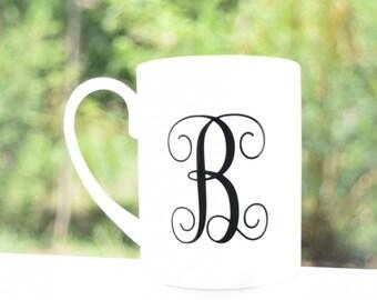 Monogram Coffee Mug - Personalized Mug - Custom Mug - Monogram Mug - Custom Monogram Mug - Initial Mug - Mug Decal - Christmas Gift for Her