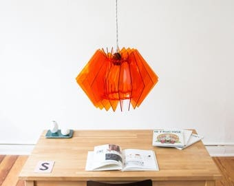 Acrylic glass lamp, orange lighting, design lamp, loud light, coloured lamp, room coloring light, accent lamp, lampshade 2017, art sculpture