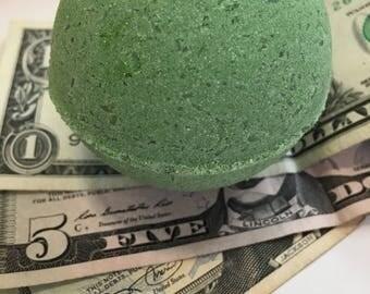 Mint Money Bath Bomb with a surprise inside!