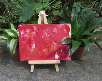 Original Red Marble Canvas Painting