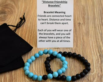 long distance friendship bracelet best friend distance bracelet bff distance jewelry gift friendship distance gift bestie gifts bff jewelry