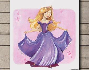princess wall art print / nursery art / baby girl room / Baby Shower Gift / home decor /nursery decor / nursery art wall / new baby room