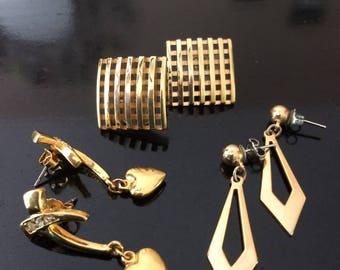 Vintage Avon Earrings Lot of 3