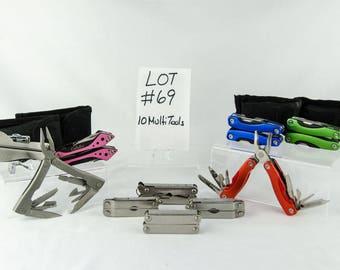 10 Multi Tool Lot # 69 Folding Knives Cabelas + More