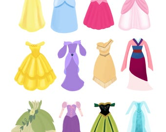 Princess Dresses- Nursery Print