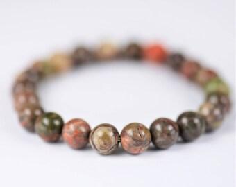 Ocean Jasper 100% Natural Stone Healing Stretch Bracelet ~ HEALING