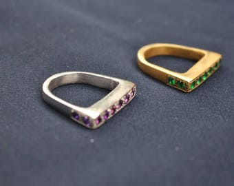 Stackable Ring, Handmade Ring Set, Any Occasion, Gift for her, Statement Gemstone Ring Set
