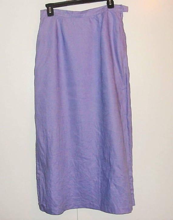 linen maxi skirt purple lavender lilac vintage