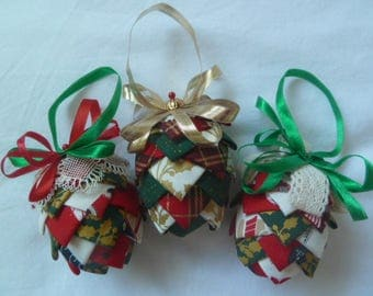 Set of 3 christmas tree decorations