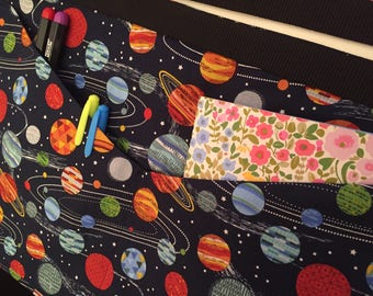 Planets Teacher/ vendor/ phonics Apron/Pinny