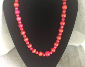 Necklace cherry - series Lucia No. 4