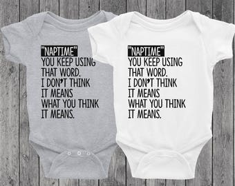 The Princess Bride Onesie or Baby Tee | Inconceivable | Naptime | What you think it means | Cute Onesie | Baby Girl | Baby Boy