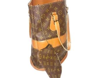 Authentic Louis Vuitton Vintage Monogram Bucket Bag with Chain Purse