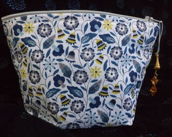 Handcrafted in classic Liberty cotton fabric and fully lined Makeup / cosmetic bag