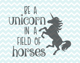 This is an image of Striking Be a Unicorn in a Field of Horses Free Printable