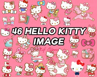 hello kitty clipart, clipart,image,png,graphics,vector,pack,sanrio,downloadable,digital files