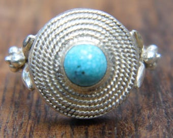 Ring silver filigree and Turquoise