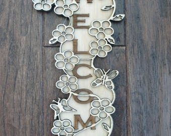 Welcome Sign - Flowers