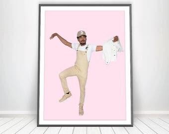 Chance the Rapper Poster * Hip Hop Poster Rap Prints Hip Hop Art Rap Art Chance 3 Hat Hip Hop Party Music Prints Chance the Rapper Print Art
