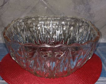 Vintage Cut Glass Punch Bowl Set
