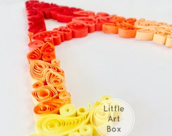 Presonalised handmade framed paper quilled letter A