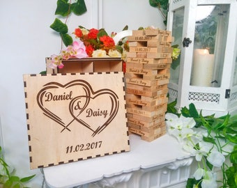 Wedding Guest Book Alternative Wedding Guest Book gift Personalized Wedding Jenga Wedding guest book Personalized gift Jenga Wedding gift