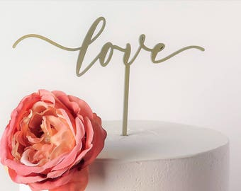 love Laser Cut Cake Topper/Any Occasion/Wedding/Anniversary/Bridal Shower/Birthday