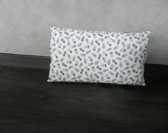 Cushion 30 x 50 black and white spirit pineapple motif Scandinavian