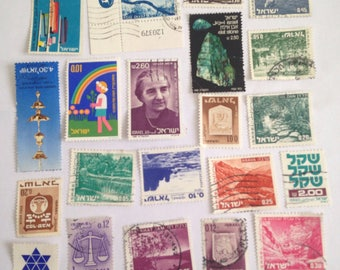 Stamps from Israel, also not imprinted stamps.