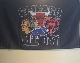 Chicago All Day Wall Flag