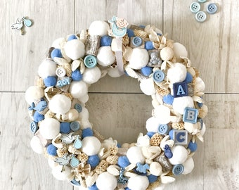 Wreath, Nursey room decoration, Baby shower