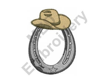 Horseshoe - Machine Embroidery Design, Cowboy