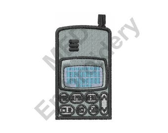 Phone - Machine Embroidery Design, Cell Phone