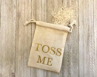 Toss Me-Muslin Bags-Cotton Bags-Weddings-Favor Bags-Gifts-Celebration