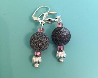 Dangle Earrings / Silver Earrings / Pink Earrings / Drop Earrings / Earring Set / Boho Earrings / Drop Earrings / Statement Earrings