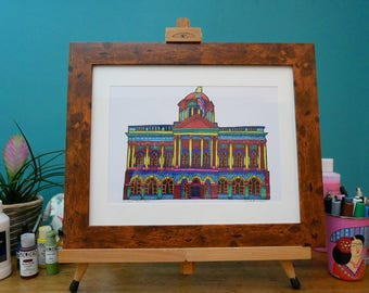Colourful Liverpool Town Hall